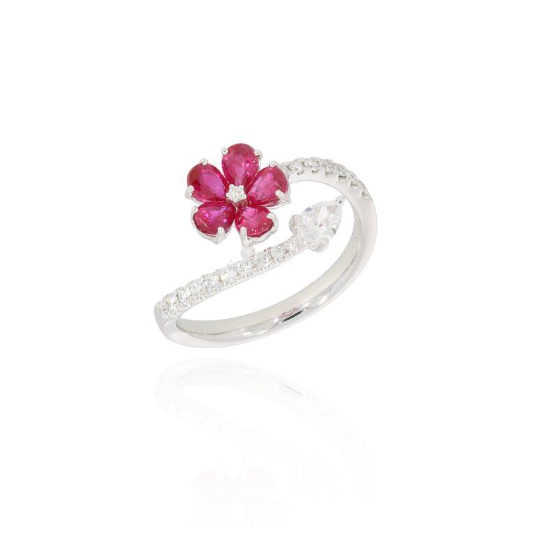 Blütenring Rubin