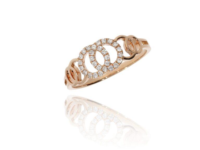 Diamantring in Roségold