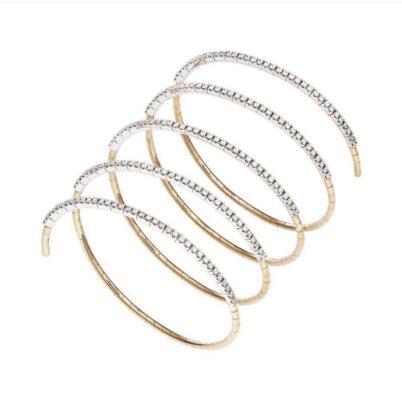 Armreif Spirale mit Diamant