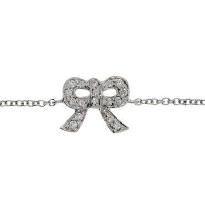 Diamantarmband Masche in Weißgold besetzt mit Brillanten