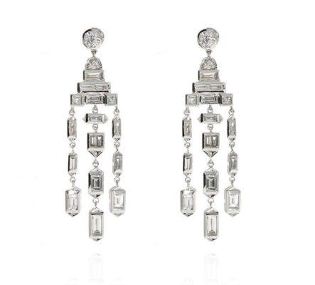 Diamantohrringe im Art Déco Stil