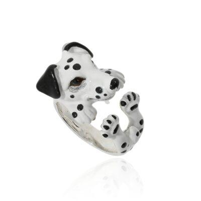 Silberring Dalmatiner