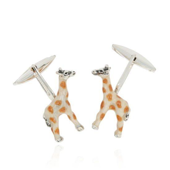 Silbermanschettenknöpfe Giraffen