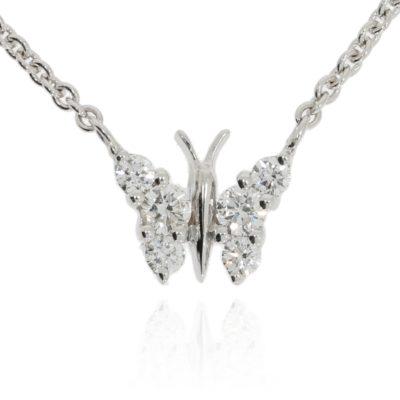 Diamantanhänger Schmetterling
