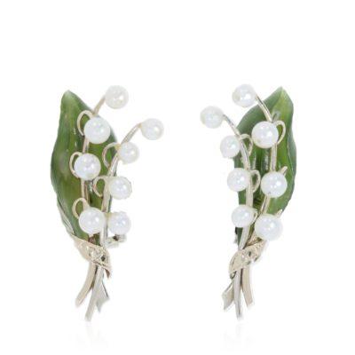 Vintage earrings snowdrops
