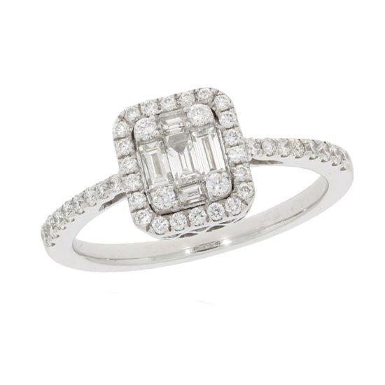 Diamantring mit Baguette Diamanten