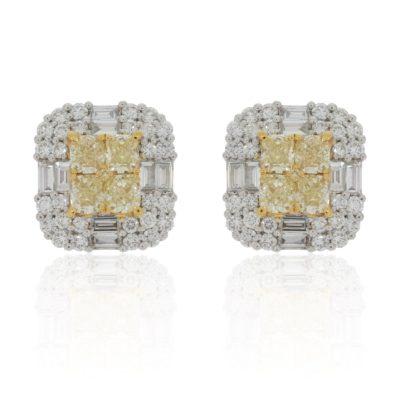 Fancy Yellow Diamantohrringe