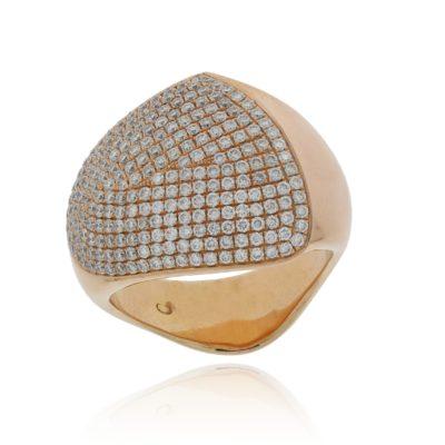 Diamant Pavé Ring in Rosegold