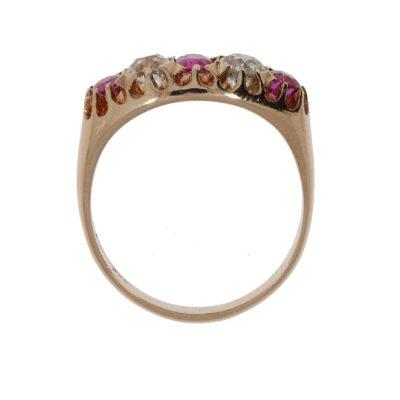 Vintage Rubin Ring Seitenansicht